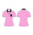 Polo woman shirt design templates vector