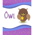 Animal alphabet owl vector