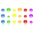 Colorful web icons buttons vector
