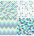 Seamless stripes zig zag and polka dots backgroun vector