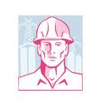 Construction engineer worker hardhat vector
