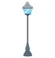 A street lamp vector