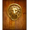 The door handle - the head of a lion vector