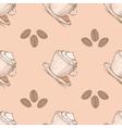 Coffee seamless pattern vector