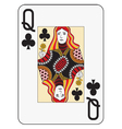 Jumbo index queen of clubs vector