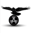 Raven on radiation symbol vector