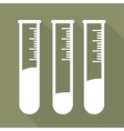 Test tube icon microbiology equipment vector