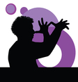 Funny man with hand vector