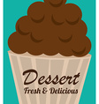 Bakery design over blue background vector