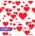 Abstract red paper hearts seamless pattern vector