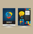 Design page template modern style vector