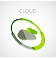 Cloud storage 3d company logo minimal design vector