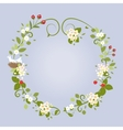 Floral design love spring beautiful wedding wreath vector