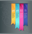 Colorful ribbon promotional products vector