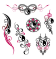 Yin yang jewelry vector