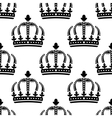 Seamless pattern of vintage royal crowns vector