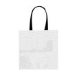 Shopping bag isolated with grunge pattern vector