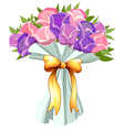 A boquet of blooming flowers vector