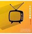 Retro tv flat modern web button with long shadow vector