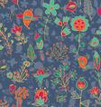 Flower and bird seamless texture vector