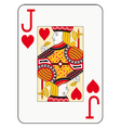Jumbo index jack of hearts vector