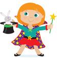 Girl magician vector