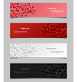Set of abstract valentine banners vector