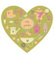 Garden heart vector