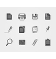 Office iconsblack icons vector
