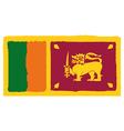 Flag of sri lanka handmade vector