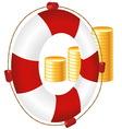Money icon of bank deposit vector