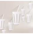 Cold drink web icon vector