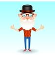 Hipster grandpa vector