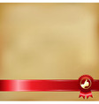 Old paper and gold award ribbons vector
