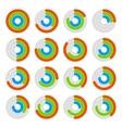 Set of circular colored progress diagram vector