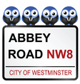 Abbey road sign vector