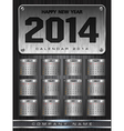 Metal calendar 2014 background design vector