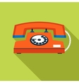 Retro vintage communication symbol telephone icon vector
