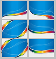 Abstract blue back set vector