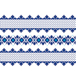 Ukrainian ethnic stitch pattern ethnic ornament vector