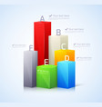 Template for infographic with 3d bar vector