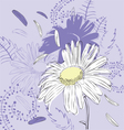 Abstract background with camomile vector