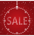 Christmas sale red design template vector