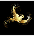 Golden bird vector