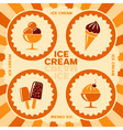 Label design with ice cream icons vector