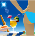 Beach cocktail vector