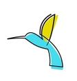 Colourful cartoon hummingbird vector