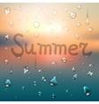 Summer typography background vector
