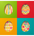 Easter paper cards with egg vector