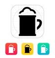 Beer mug with foam icon vector